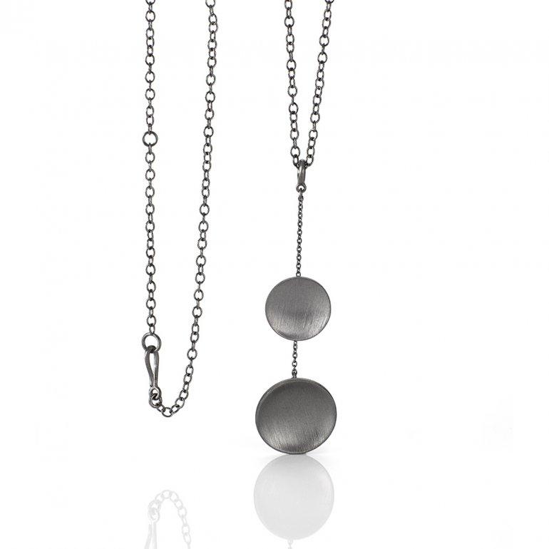 Anette Wille: Parousia halskæde i sort rhodineret sølv  EV811